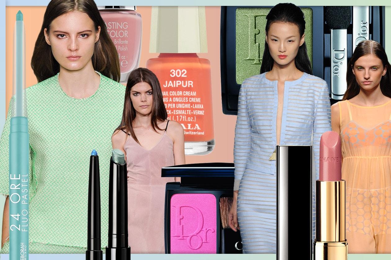 Pastello: tutte le nuance della primavera 2014, dal beauty case al guardaroba. Gli abbinamenti di Grazia.IT.