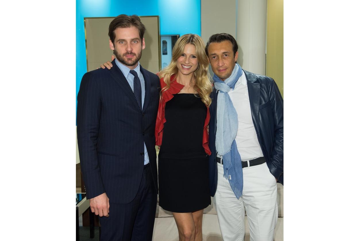 Tomaso Trussardi, Michelle Hunziker e Carlo Colombo