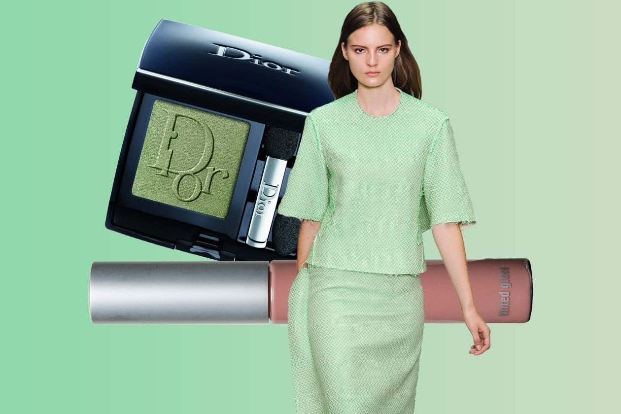 VERDE ACIDO: total look verde pale (Calvin Klein – Dior – The Balm)