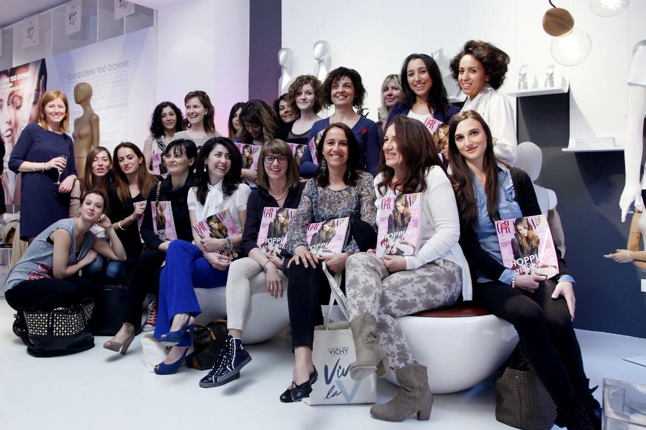 """Vichy Temporary Beauty: una serata per festeggiare il progetto """"100 donne per 100 giorni"""" al Fuori Salone di Milano. Il reportage di Grazia.IT"""