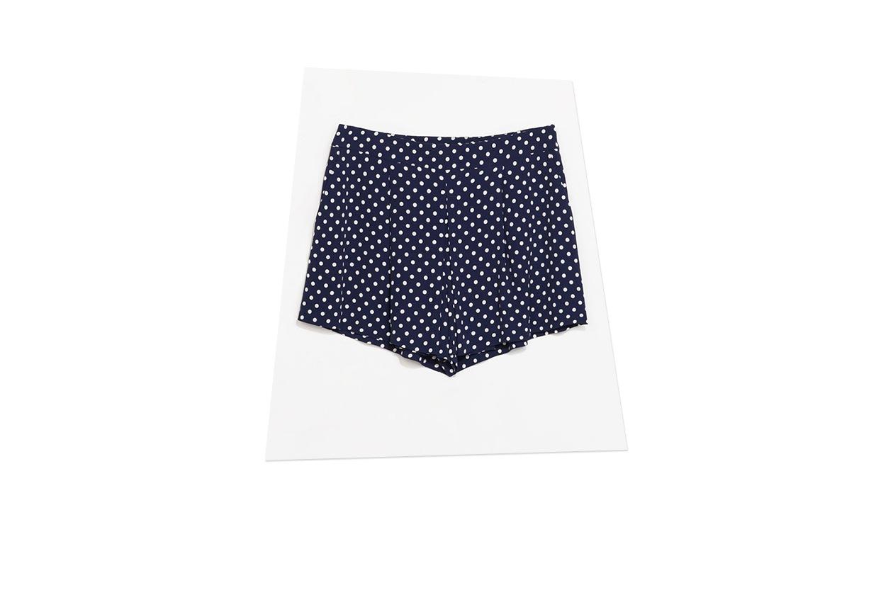 Fashion A pois come January Jones shorts zara