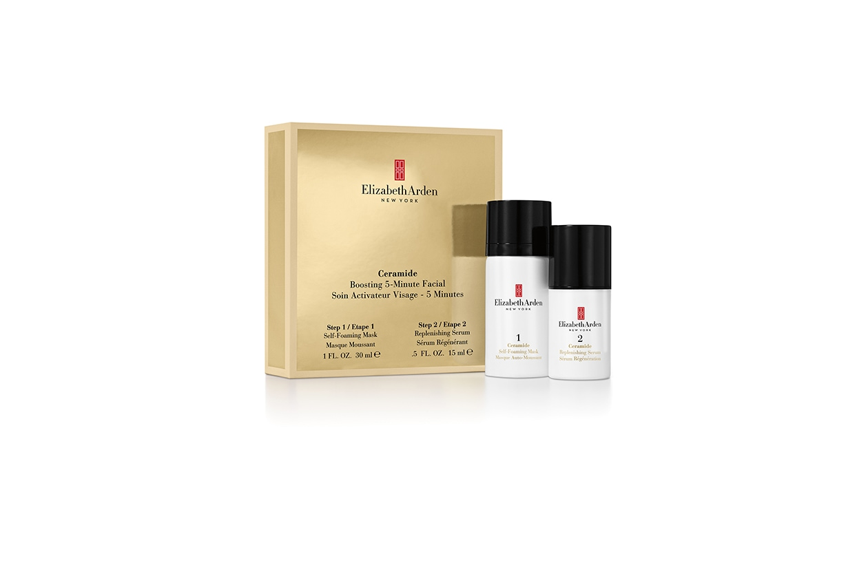 Beauty Kit da viaggio Ceramide boosting 5 min facial set Elizabeth Arden