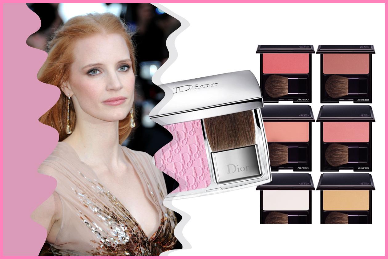 Bonne mine look per Jessica Chastain (Dior e Shiseido)