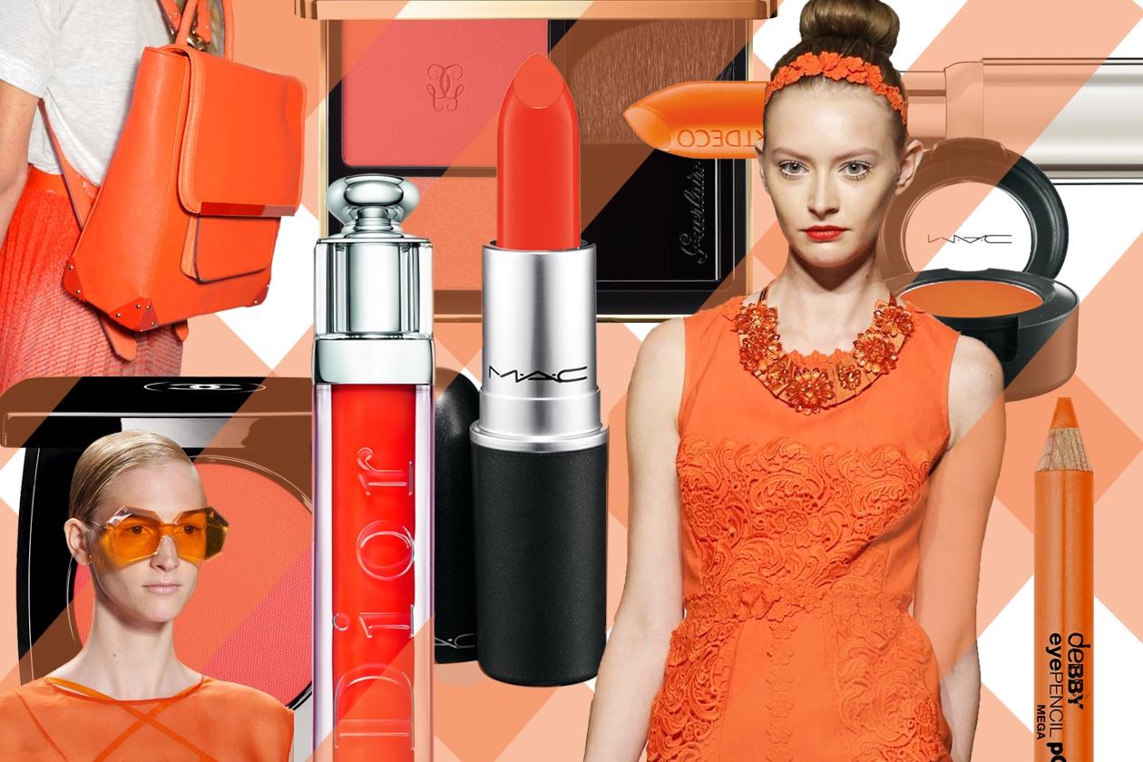 Celosia Orange è il colore di tendenza di questa primavera/estate 2014. Gli abbinamenti beauty&fashion di Grazia.IT