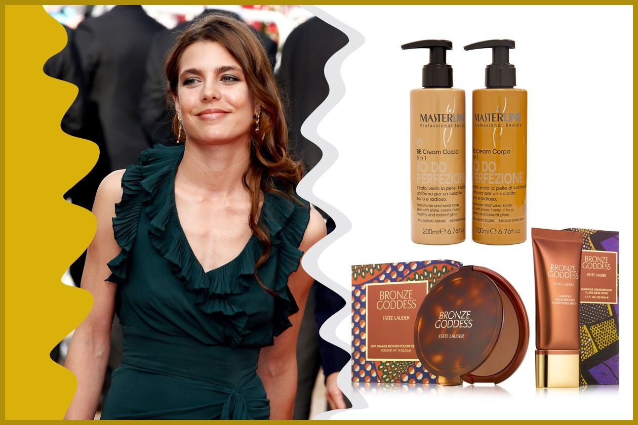 Charlotte Casiraghi risalta il naturale effetto luminoso della pelle regalandosi un leggero colorito (Estée Lauder e Masterline)