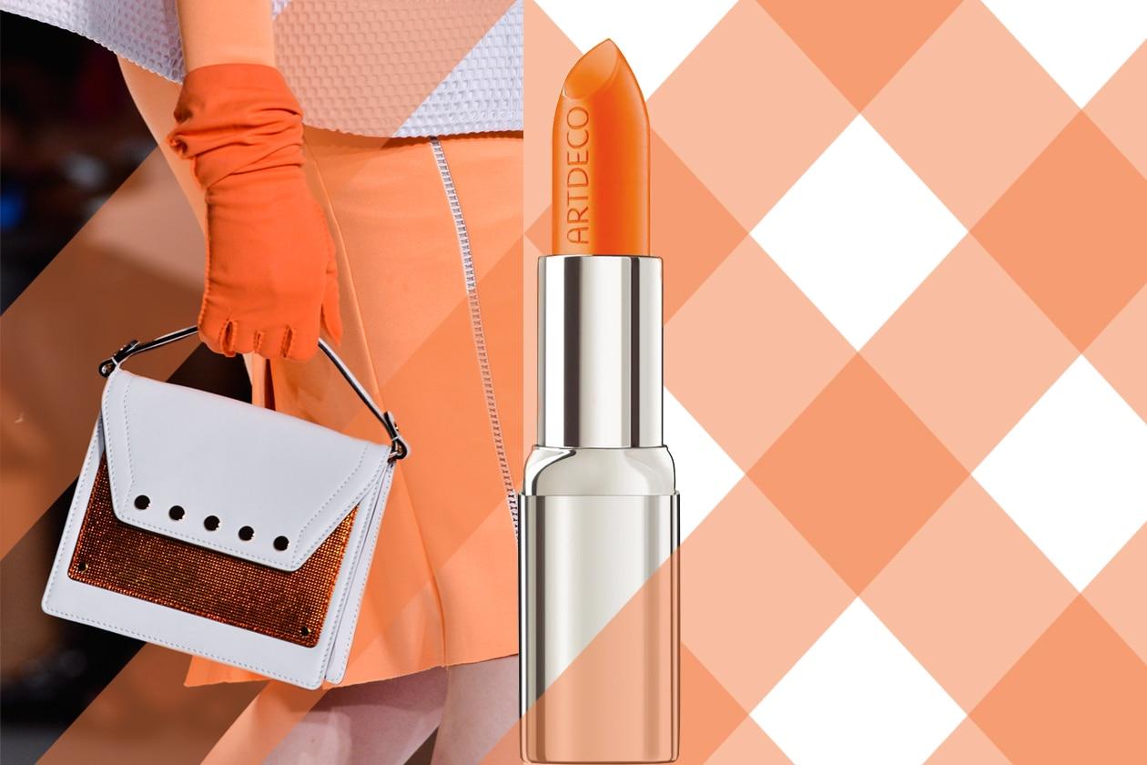 Coppia très chic (borsa di Milly e rossetto ArtdecoHigh PerformanceLipstick in Bright Orange)