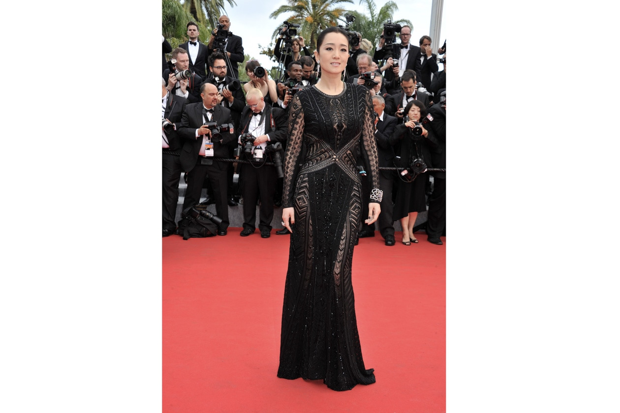 Gong Li in Roberto Cavalli @ Opening Ceremony Cannes Film Festival 2014 05 14 Cannes
