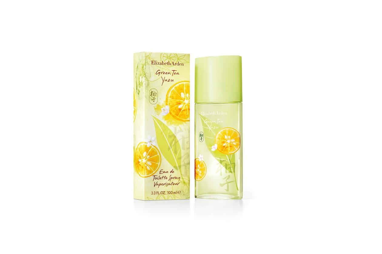 Green Tea Yuzu di Elizabeth Arden è ispirato alle molteplici sfaccettature dello Yuzu, un ibrido tra il mandarino e il limone di Ichang