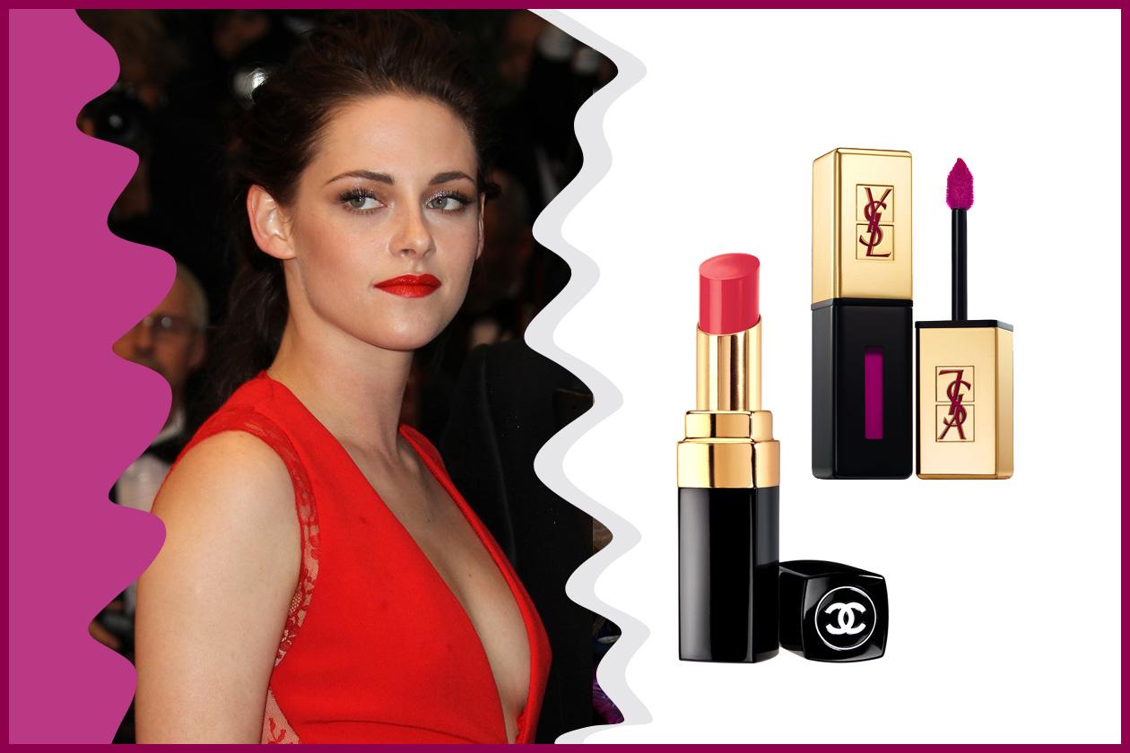 Hot lips per Kirsten Stewart (Chanel e Yves Saint Laurent)
