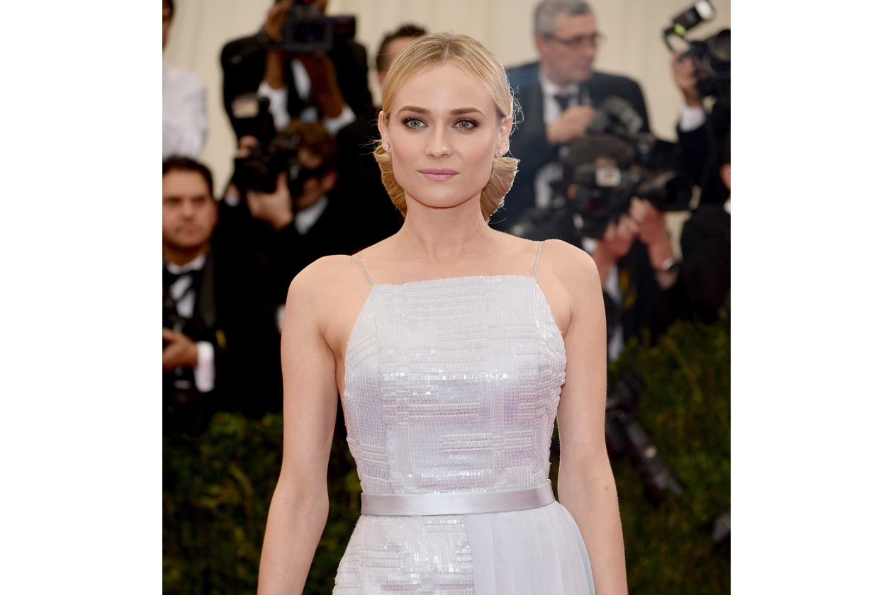 L'eleganza perfetta: Diane Kruger sul red carpet del Met Ball 2014
