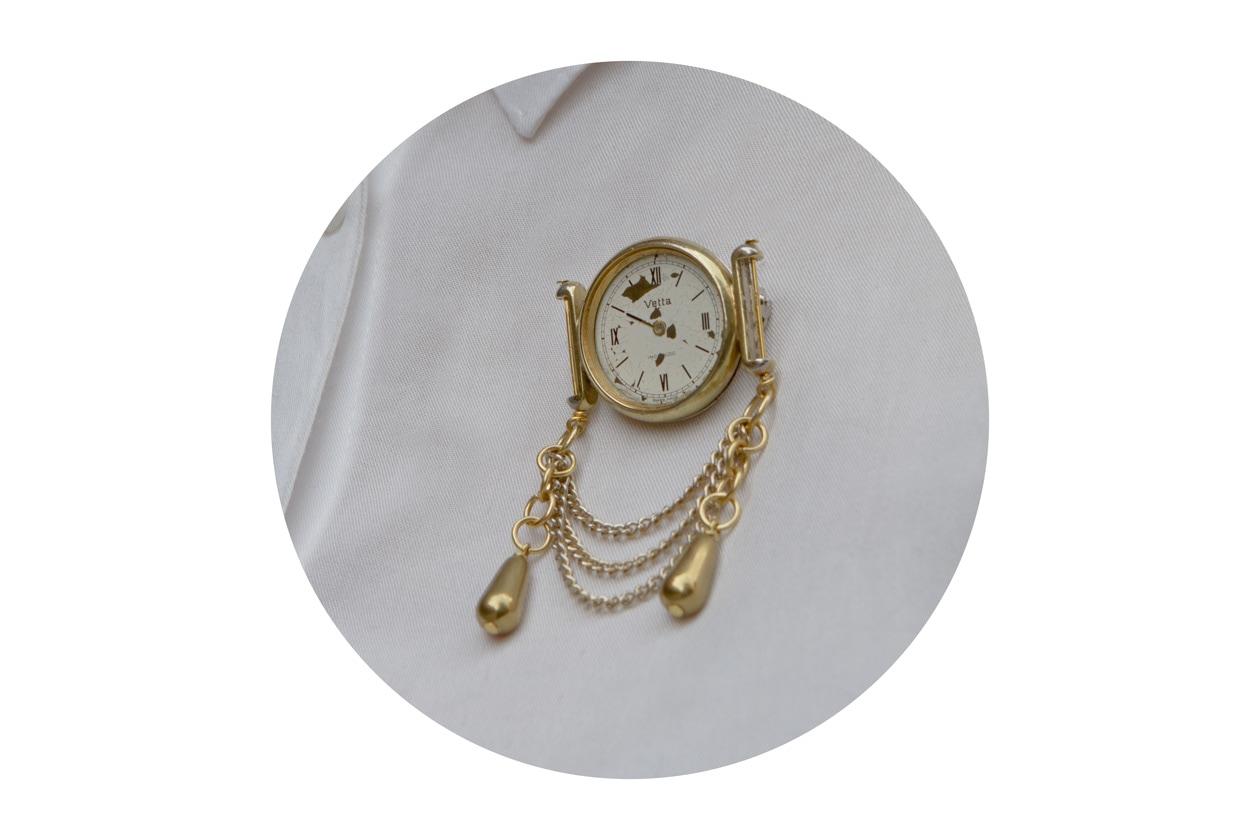 La spilla orologio di Pierre de Minuit new designer