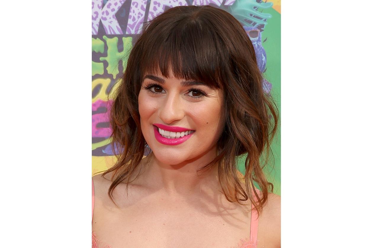 Lea Michele: l'attrice e cantante ci aveva già provato, in passato, con un caschetto corto con frangia