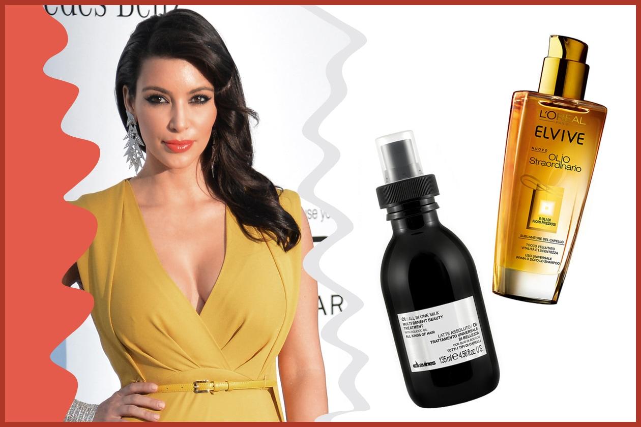 Morbida, luminosa e perfetta: una vera chioma da red carpet quella di Kim Kardashian (L'Oréal Professionel e Davines)
