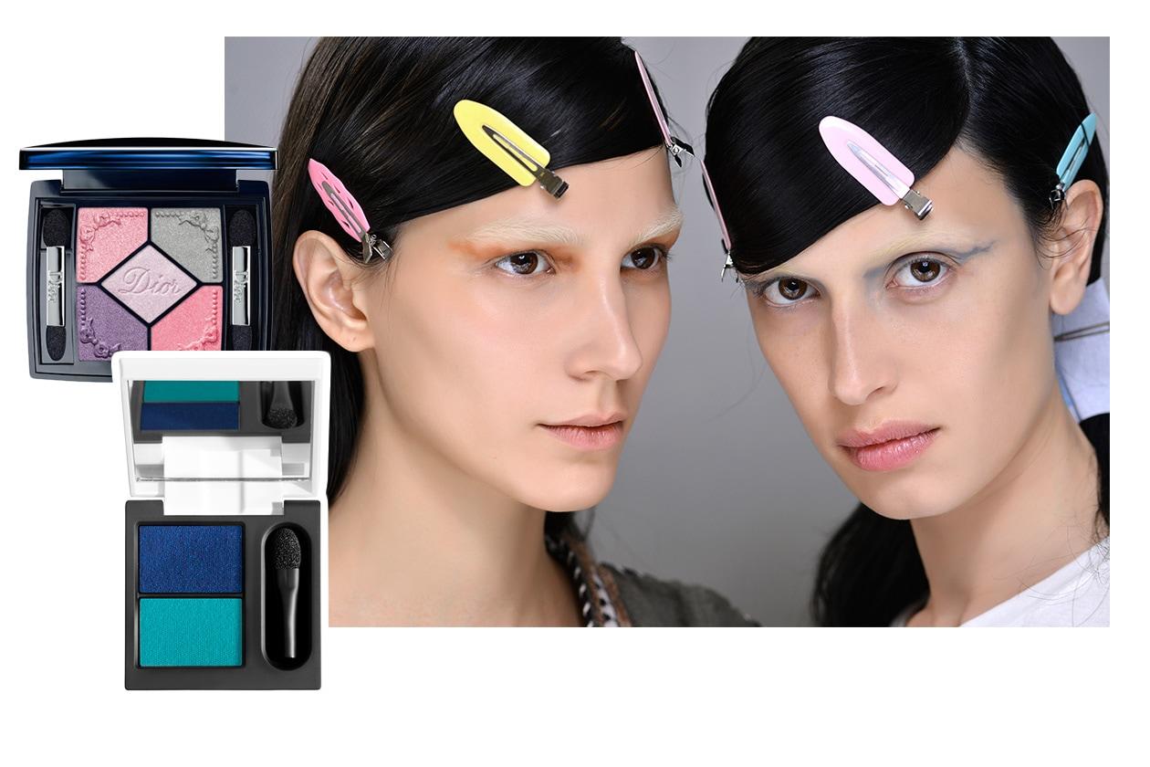OMBRETTI COLORATI: look dalla sfilata di Prada. Make up: Diego Dalla Palma e Dior