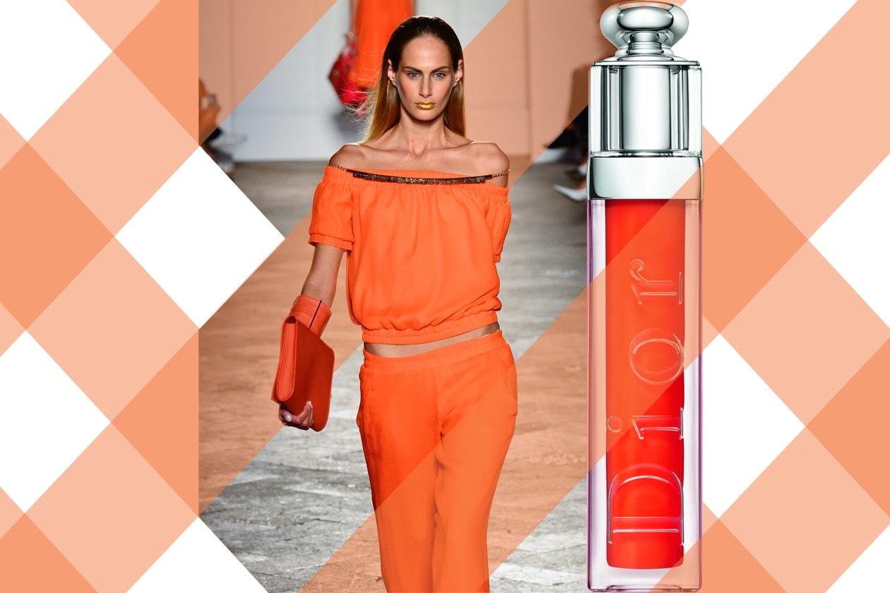 ORANGE SMILE: vitaminico, brillante, illuminante: l'arancione fa risaltare il sorriso (Aigner – Dior)