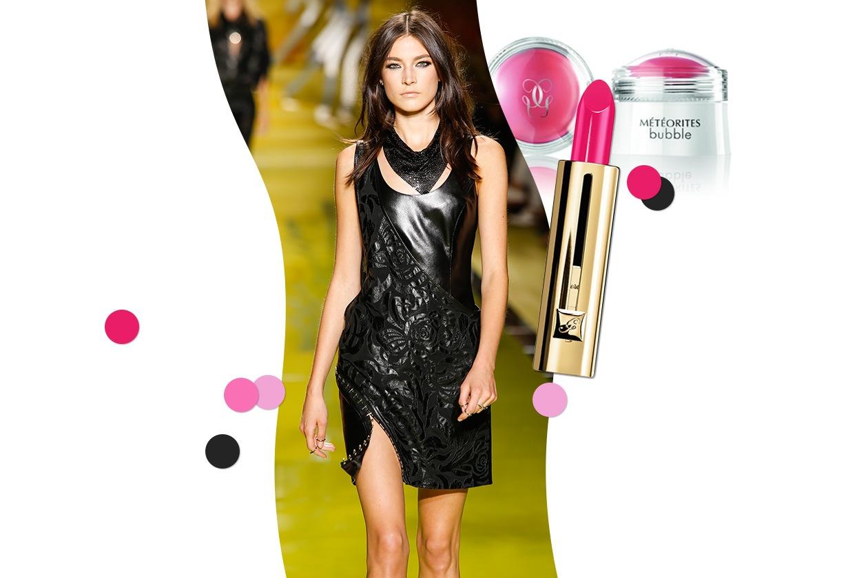 PINK!: l'anima è rock ed energica per Versace. Accostiamo un colore altrettanto vivo e deciso: il fucsia (Guerlain)
