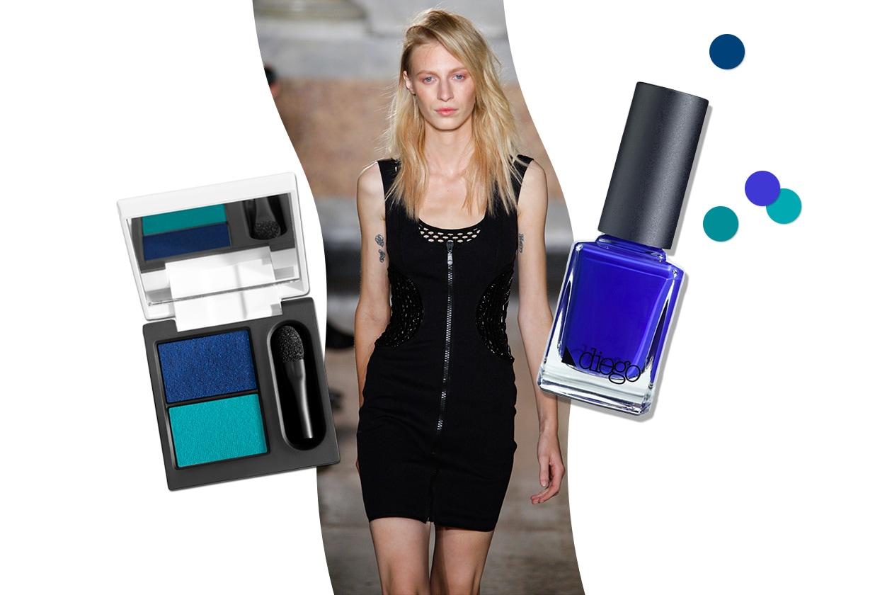 POP BLU: zip, scolli traforati, mini dress: a cavallo tra street style e rock star (Emilio Pucci – Diego Dalla Palma)