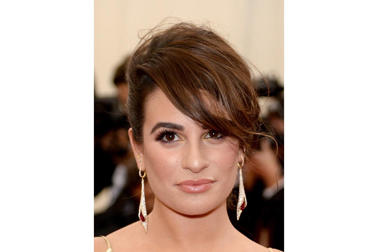 Sopracciglie in evidenza anche per Lea Michele