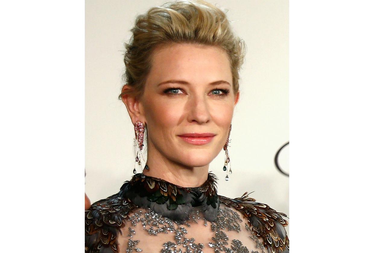 Perfetto l'incarnato di Cate Blanchett