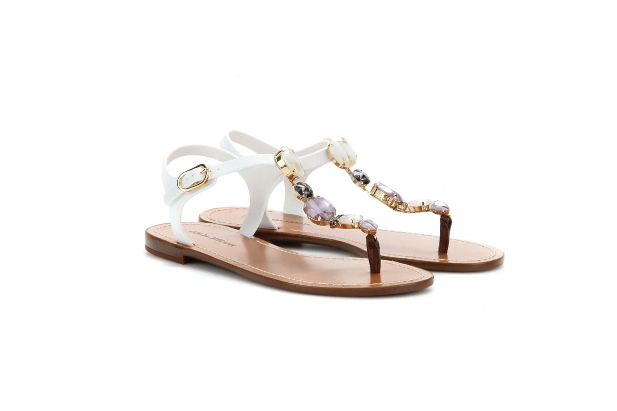 dolce e gabbana myth Embellished rubber sandals STANDARD