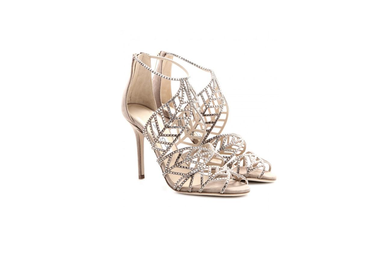 jimmy choo mytheresa Kaci crystal embellished suede sandals STANDARD