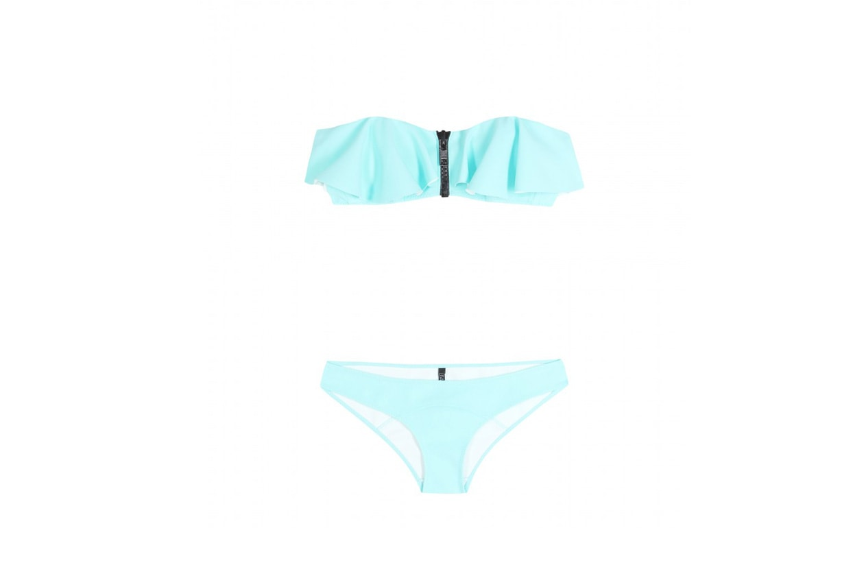 lisa marie fernandez mytheresa Lauren Flounce bandeau bikini STANDARD