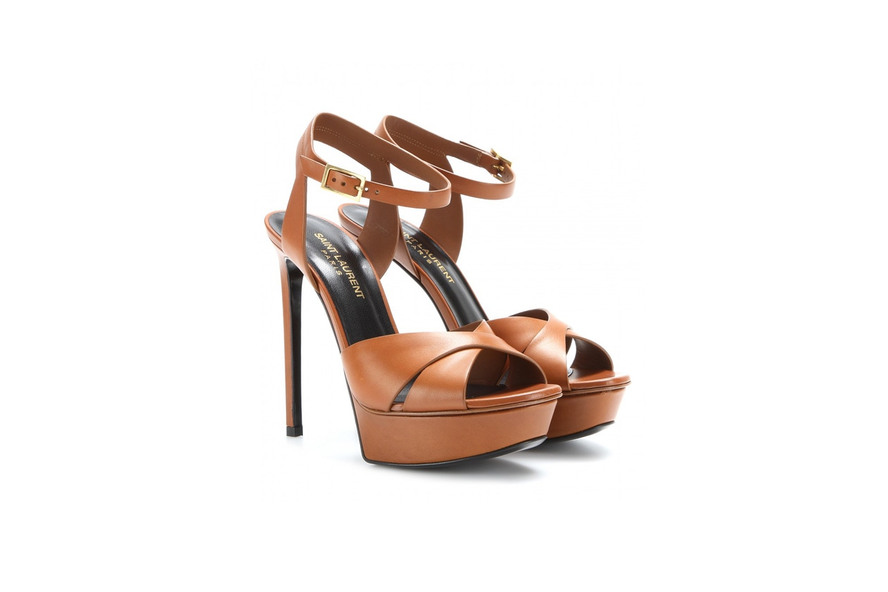 saint laurent mytheresa Bianca leather platform sandals STANDARD