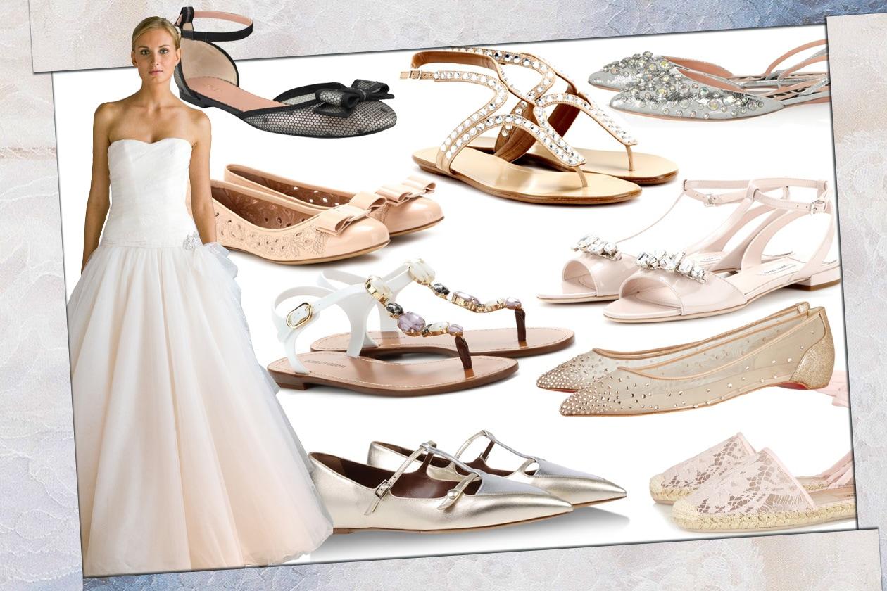 Scarpe Da Sposa Senza Tacco.Le Scarpe Flat Per La Sposa Grazia It