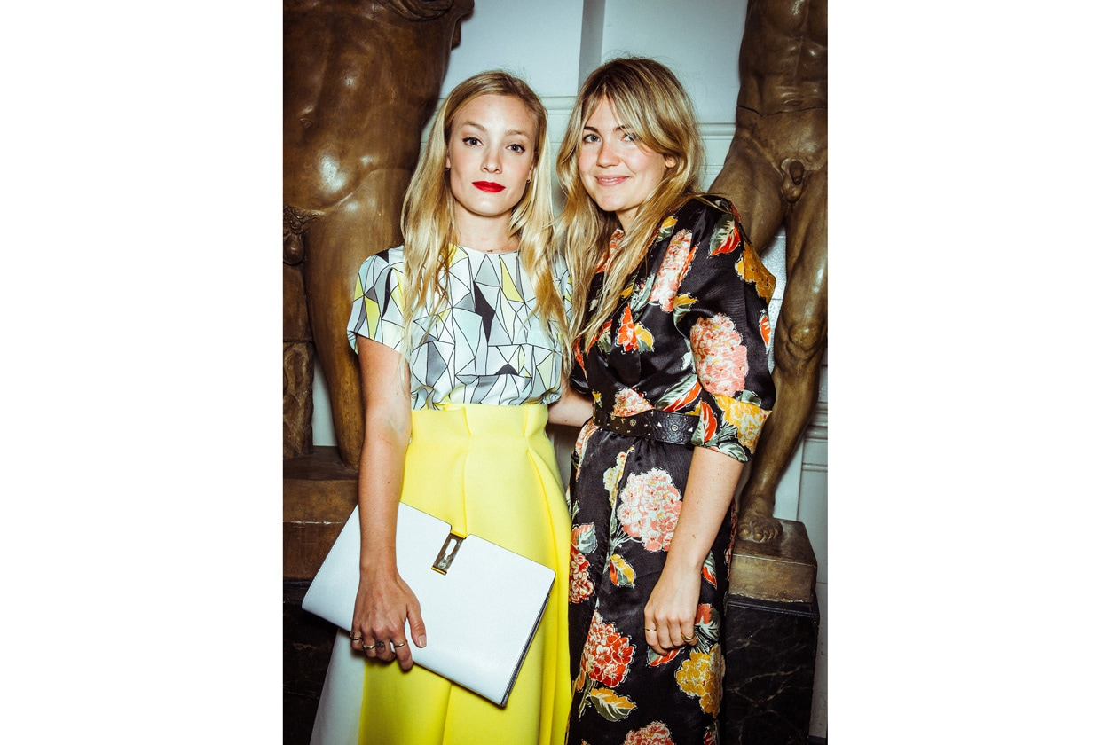 A10 Kate Foley in Roksanda Ilincic and AH clutch and Matilda Goad in vintage