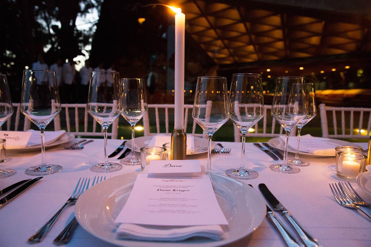 A21 The table setting at the Goldstein Residence Diane Kruger