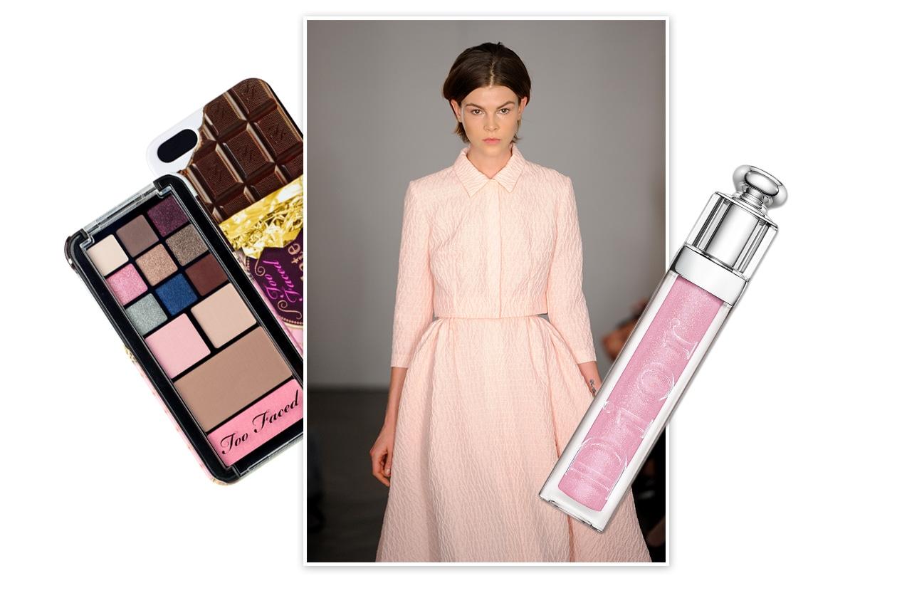 CANDY VINTAGE: lo stile anni Cinquanta stemperato da una palette di colori che permette di spaziare con la fantasia ((Emilia Wickstead – Dior  – Too Faced)