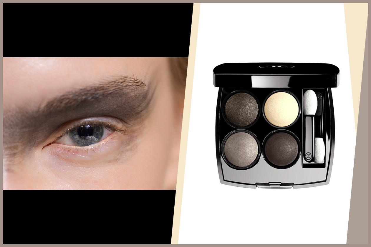 CHIAROSCURO: rima superiore e inferiore nude e palpebra full black (Gabriele Colangelo – Chanel)