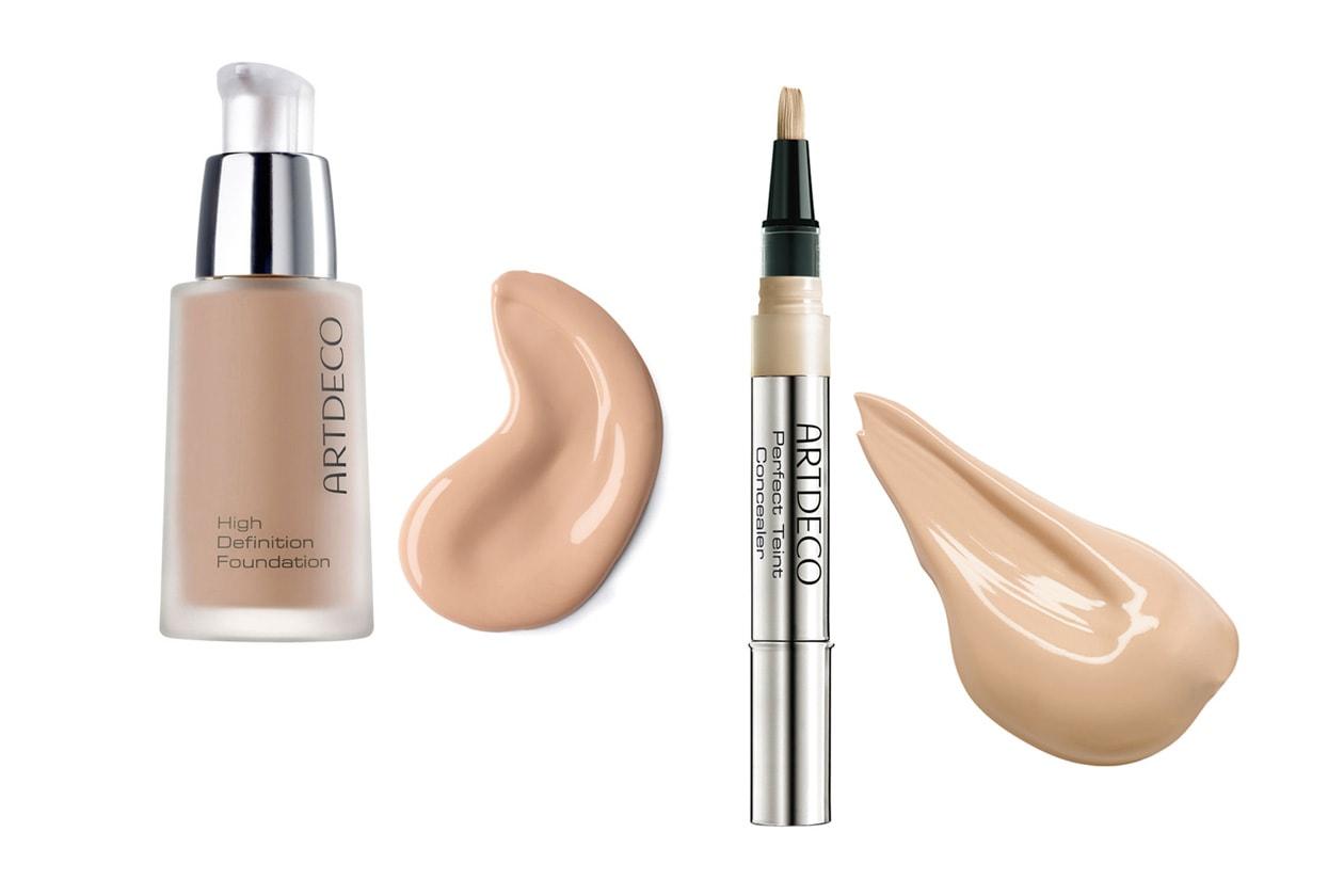 COME NASCONDERLE: ArtDeco High Definition Foundation per un effetto seconda pelle satinato. Da usare con il Perfect Teint Concealer