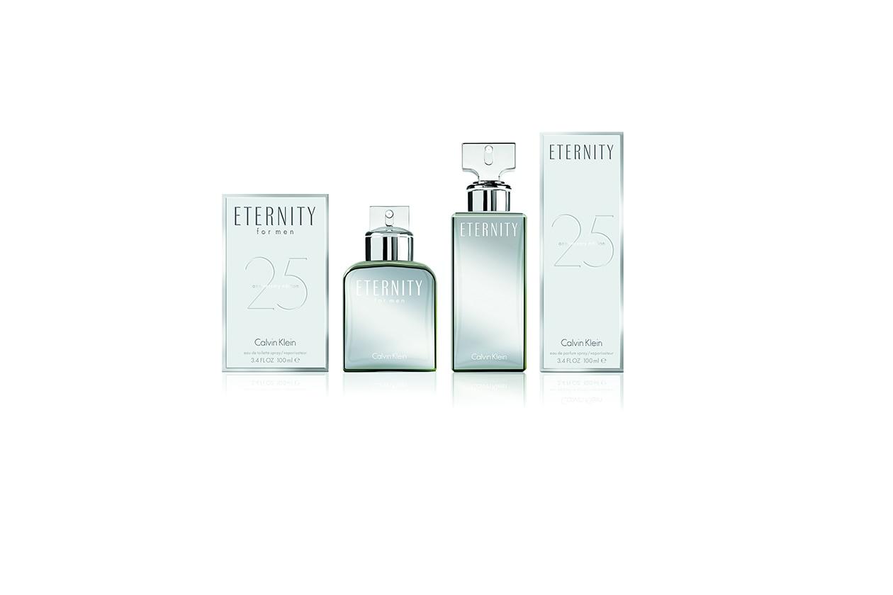 DA COLLEZIONARE: è l'anno di ETERNITY di Calvin Klein che  festeggia il suo 25° anniversario con flaconi in limited edition