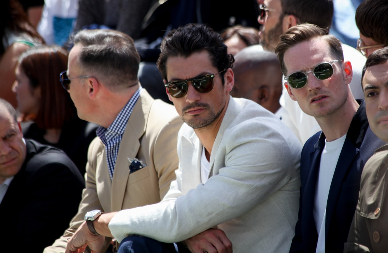 David Gandy front row da Burberry