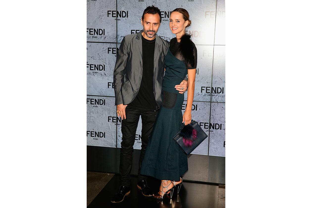 Fabio e Candela Novembre da Fendi