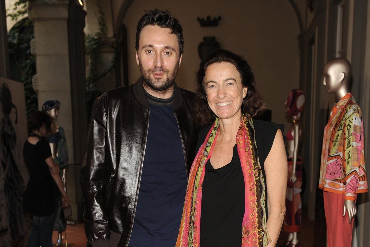 Francesco Vezzoli Laudomia Pucci at the Emilio Pucci 'Design the Dream' cocktail 17.06