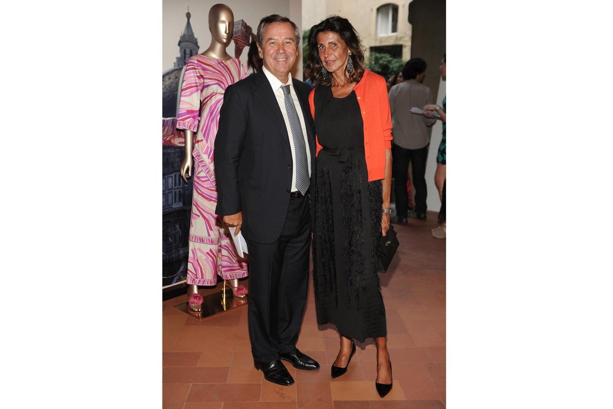 Gaetano Marzotto Albertina Marzotto at the Emilio Pucci 'Design the Dream' cocktail 17.06