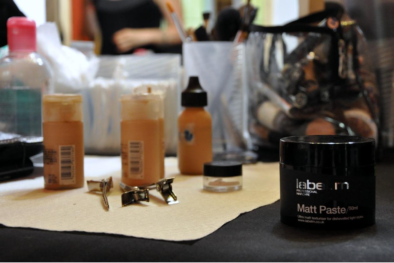 I prodotti usati per il make up e per l'hair styling