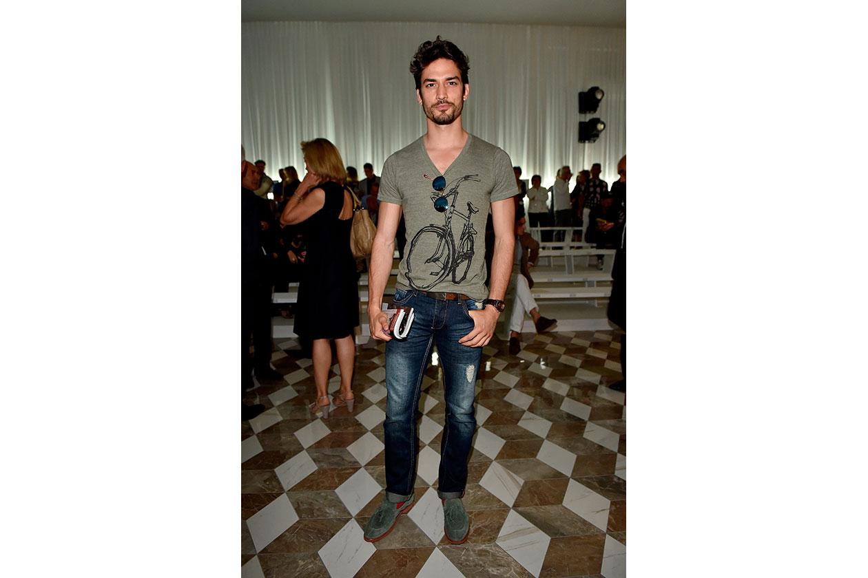 Il modello Dario Nanni da Versace