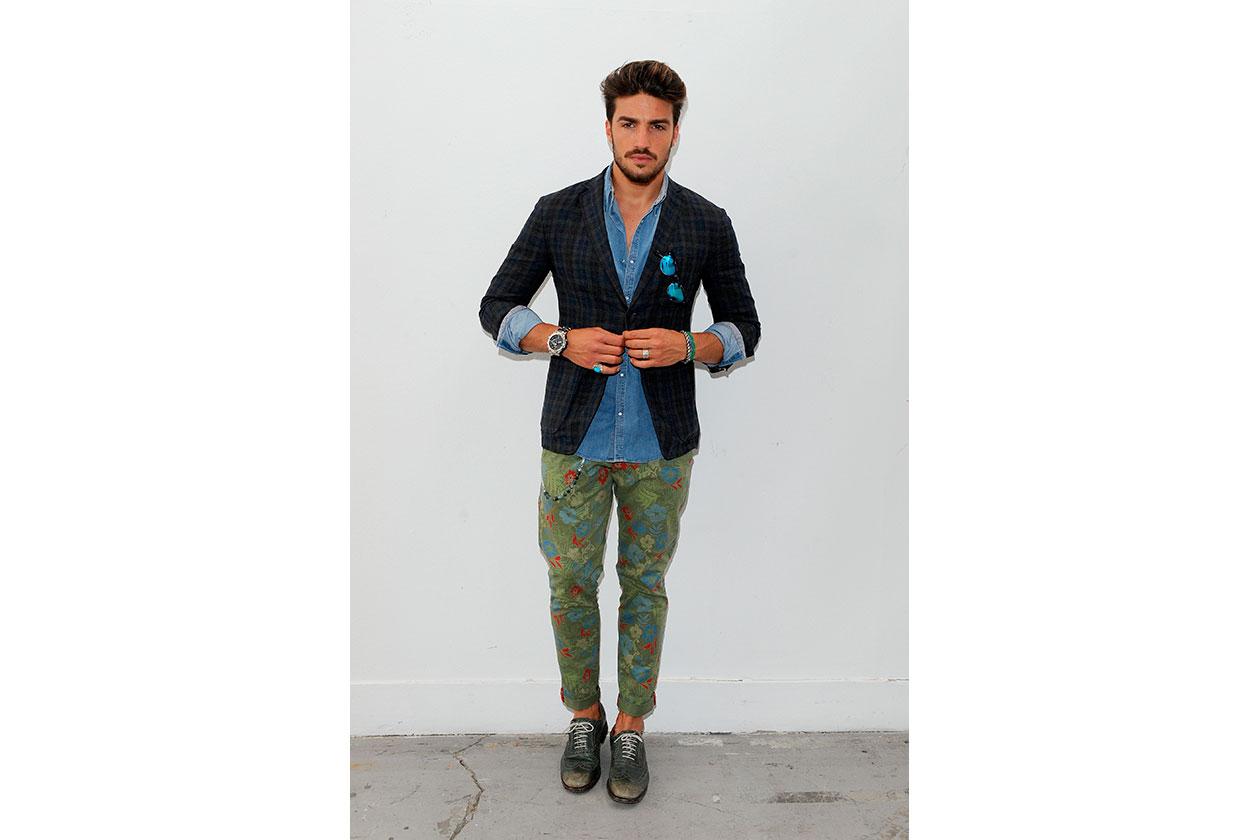 Il modello fashion blogger Mariano Di Vaio