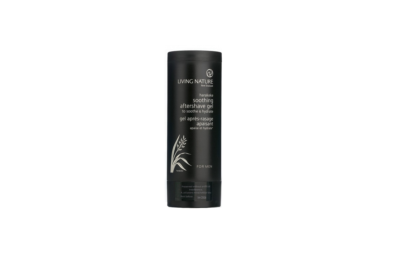 Ingredienti bio anche per il Shooting After Shave Gel di Living Nature