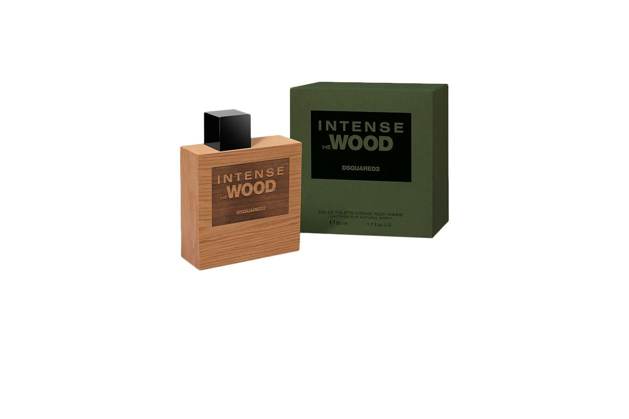 Intense HE WOOD di Dsquared2 interpreta la natura in tutta  la sua dirompente sensualità attraverso il legno