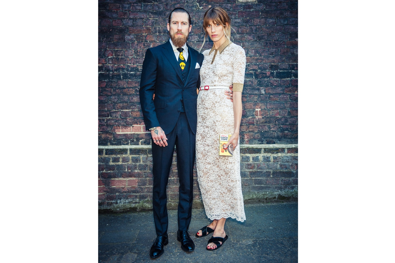 Justin O'Shea in Doyle & Meuser, Veronika Heilbrunner in Alessandra Rich and AH