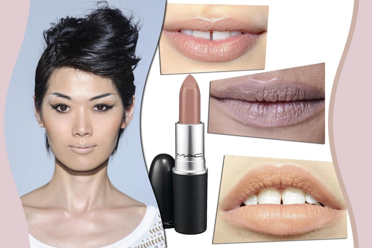 LABBRA BEIGE: la scelta più naturale quando il make up punta tutto sullo sguardo. Prodotto consigliato: Lipstick Close Contact di MAC
