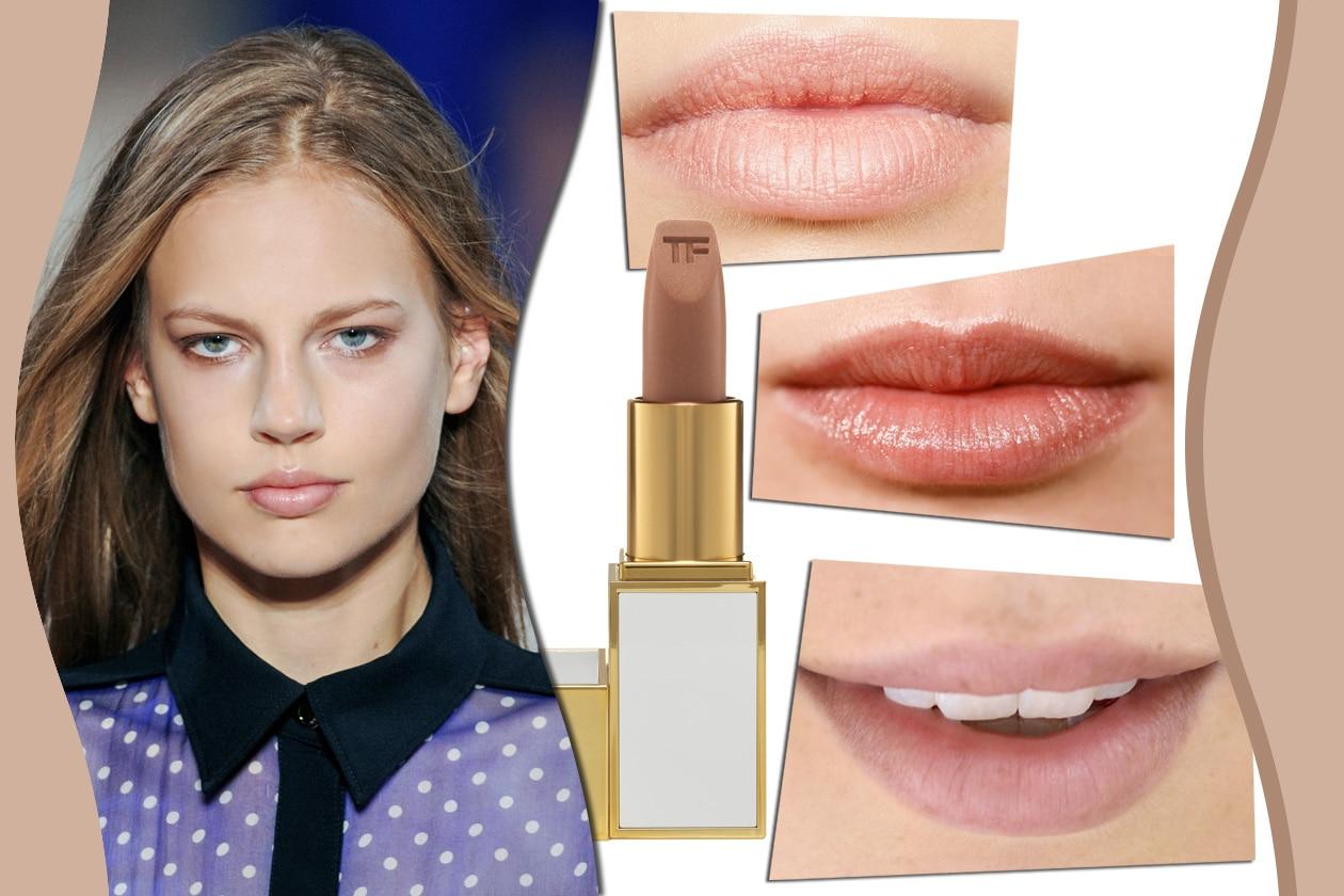 LABBRA ROSA BEIGE: per un look sofisticato. Prodotto consigliato: Lip Color Shine In The Buff di Tom Ford