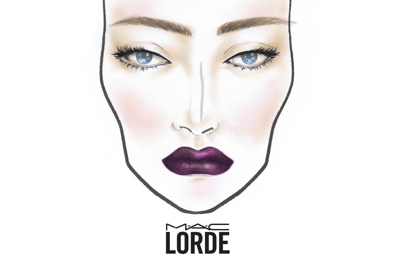 La face chart del tour di Lorde che ha ispirato la collezione make-up di MAC disponibile online da questa estate