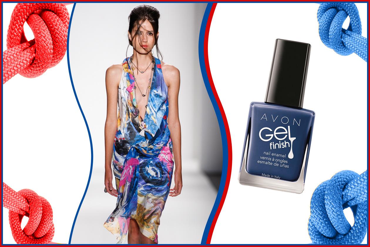 La tendenza vuole lacche blu intense (Avon – Katya Leonovich)
