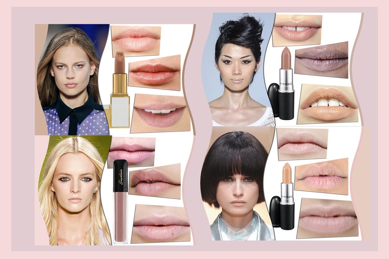 Labbra nude dal rosa al beige: il ritorno di una tendenza make up dalle passerelle primavera/estate 2014. La selezione di Grazia.IT