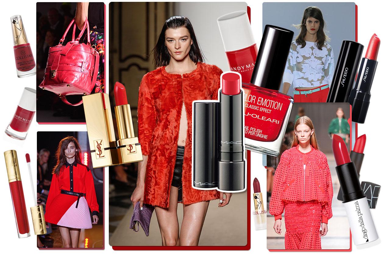 Make up rosso Cayenne: il colore di tendenza per la primavera/estate 2014. Scoprite gli abbinamenti beauty&fashion di Grazia.IT e personalizzate il vostro stile